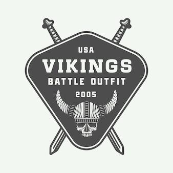 バイキングの動機付けのロゴ、ラベル