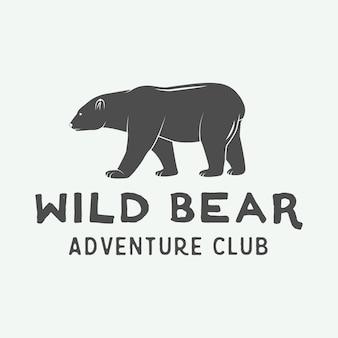 キャンプアウトドアと冒険のロゴ