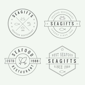 Логотипы ресторана морепродуктов