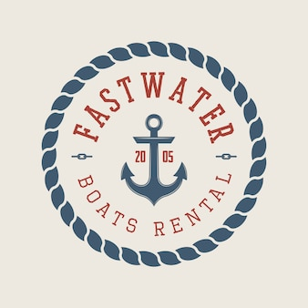 ラフティングやボートのレンタルのロゴ