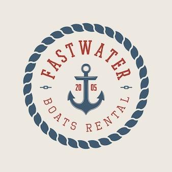 Рафтинг или прокат лодок логотип