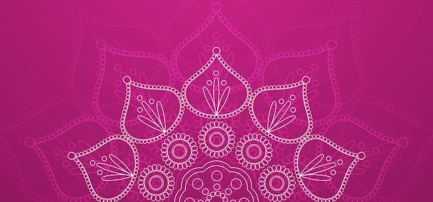 ハッピーディワリ祭紫色の背景