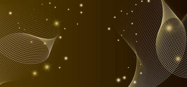 黄金の波背景