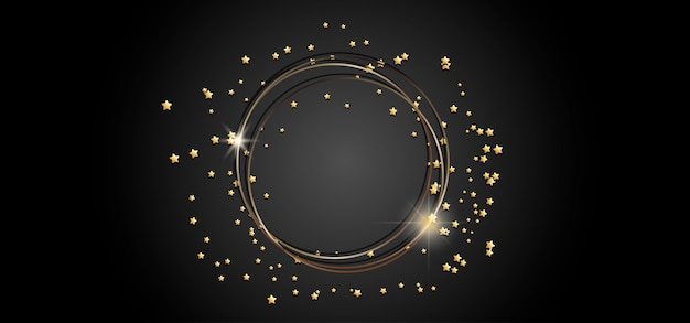 Золотая круглая рамка