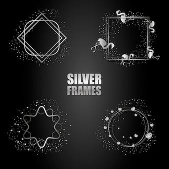 ベクトル銀金属フレームのセット