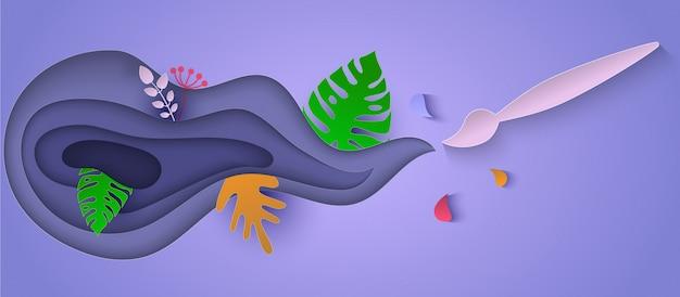 背景の抽象的な植物