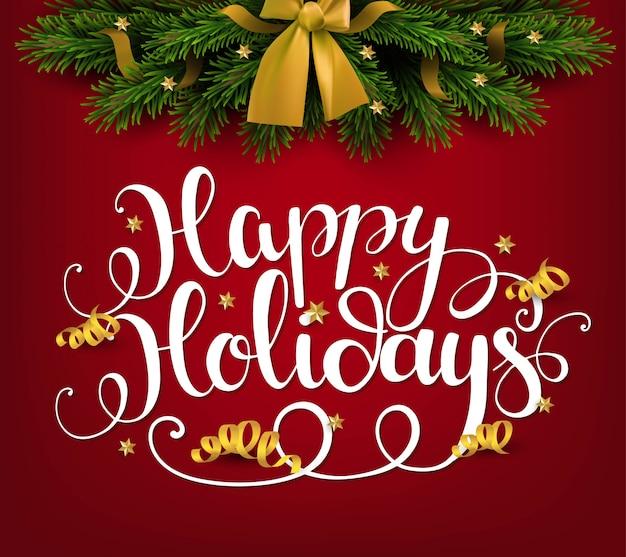 Поздравительная открытка с праздниками. рождество и новогодняя иллюстрация