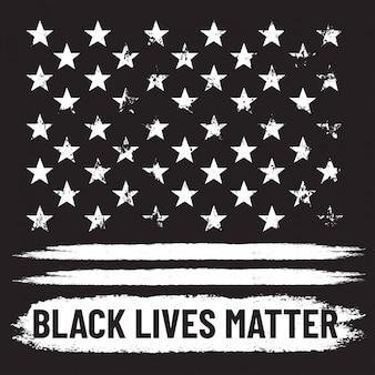 ブラックライブマター。黒グランジ背景で抗議します。