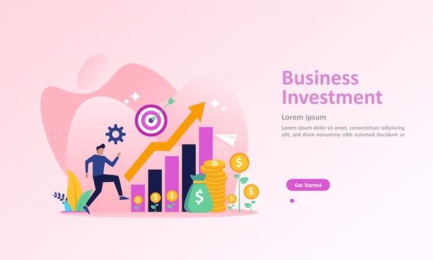 成功した金融ランディングページの成長