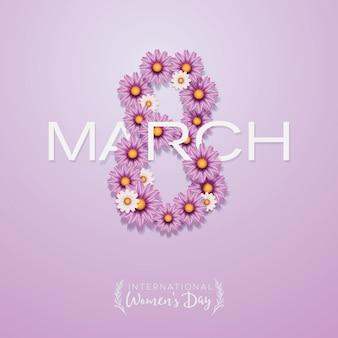 Плакат международного женского дня