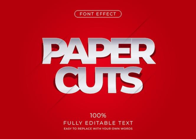 Бумажный текстовый эффект. редактируемый стиль шрифта