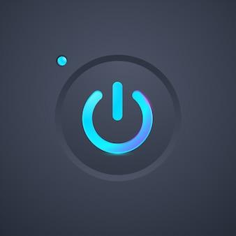 未来的な電源アイコンボタン
