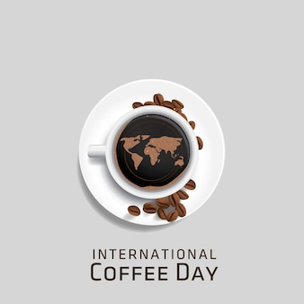 国際コーヒーデーのベクトル図