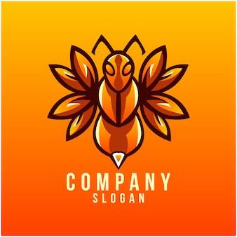 蜂のロゴデザイン