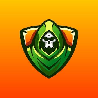 頭蓋骨のロゴデザイン
