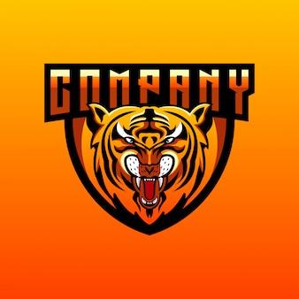 Дизайн логотипа тигра