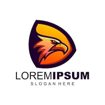 Орел логотип дизайн вдохновение вектор