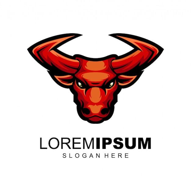 Шаблон логотипа быка