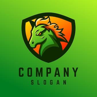 Дизайн логотипа лошади