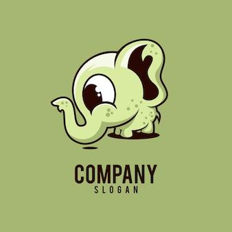 象のかわいいロゴ