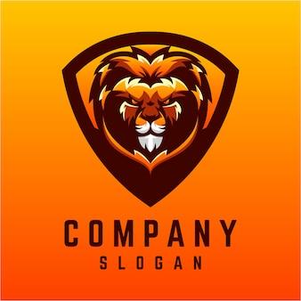 Дизайн логотипа лев