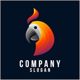 オウムのロゴデザイン