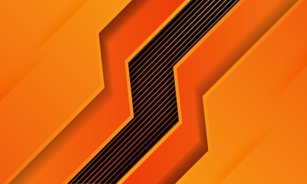 Абстрактный оранжевый с фоном линии, современные футуристические обои, твердые текстуры, глубокие футуристические фоны.