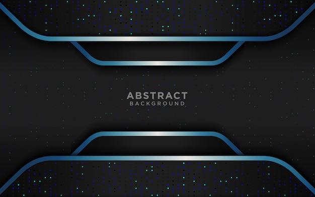 濃い青のオーバーレイレイヤーと光る現実的な豪華な黒の背景