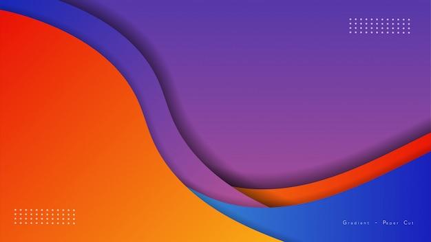 Бумага вырезать фон с перекрывающимися слоями, красочные обои,