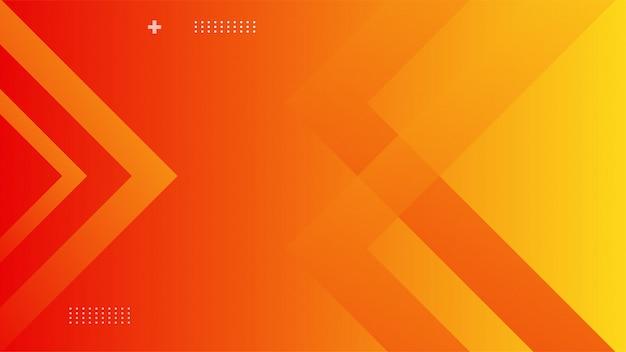 オレンジ色のグラデーション色の動的背景