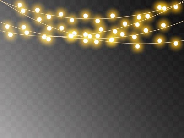 クリスマスライトの分離、現実的なガーランド