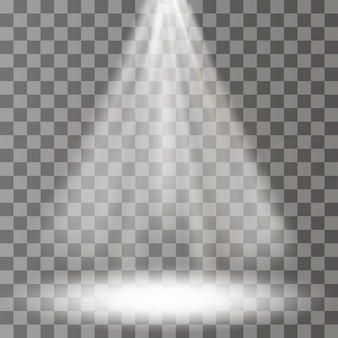 ベクトルスポットライト。シーン。光の効果