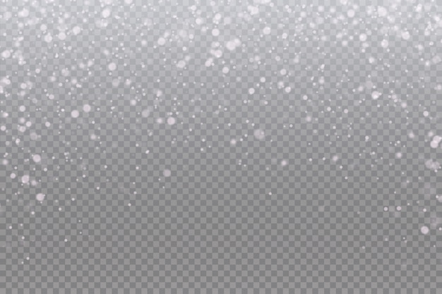 Снег падает на прозрачный