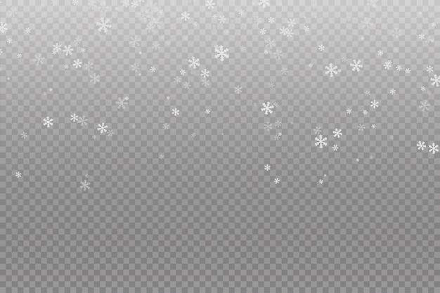 降雪。雪の背景。落ちるクリスマス