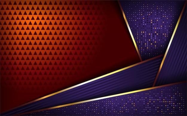 豪華な紫とオレンジ色の背景