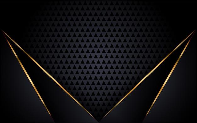 金色のアクセントとモダンな黒の背景