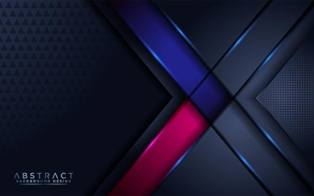 青とピンクのアクセントを持つ豪華な濃いネイビーの背景