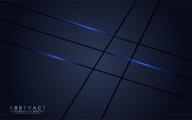 青い光とモダンな暗い海軍の背景