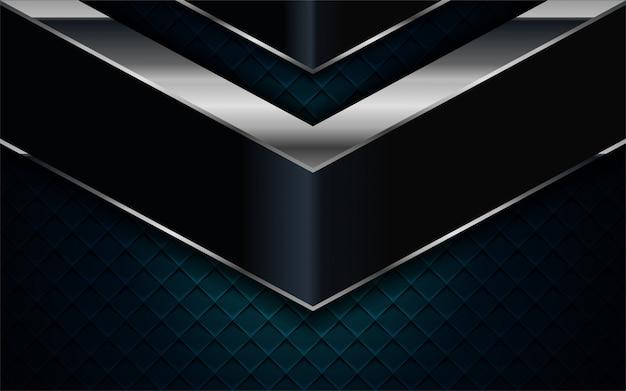 リアルなネイビーブルーは、シルバーとブラックのラインテクスチャ背景と組み合わせる