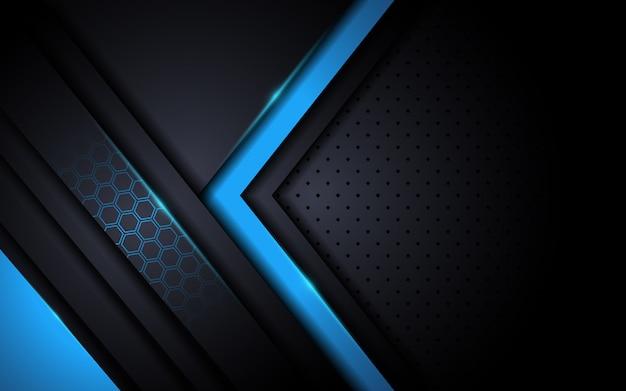 抽象的なスタイルとモダンなハイテクブルーの背景