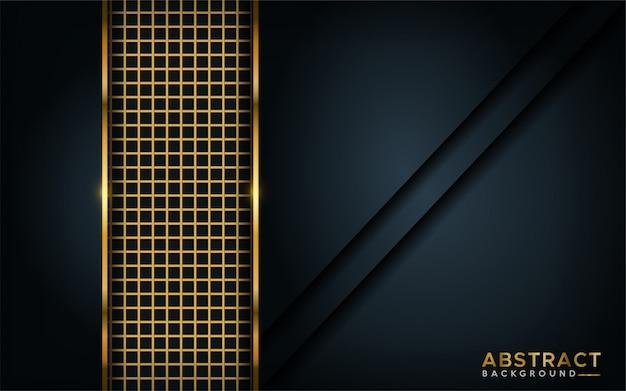 ゴールデンライン要素と豪華な暗い背景。