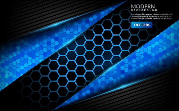 Современные абстрактные технологии синий фон. футуристический дизайн фона
