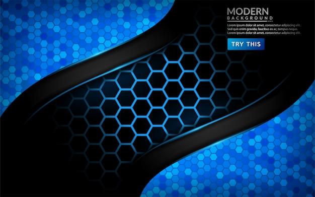 モダンな抽象的なハイテクブルーの背景。未来的な背景デザイン