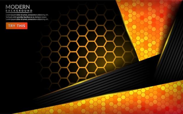 モダンな抽象的なハイテクオレンジ背景。未来的な背景デザイン