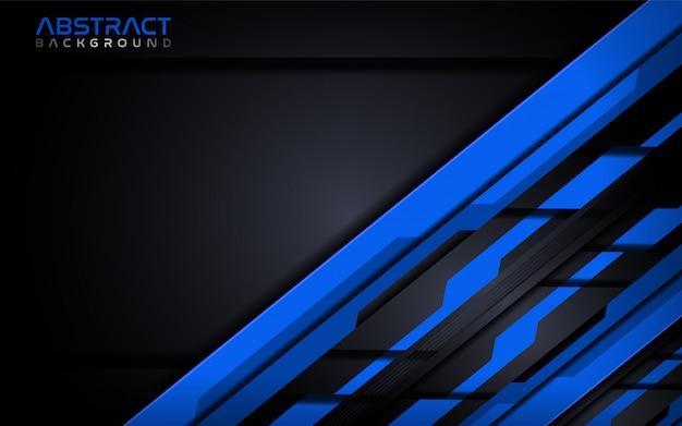 未来の青い現代技術の抽象的な背景デザインテンプレート。