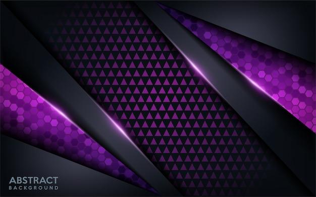 紫の抽象的な現代未来的な背景。暗いモダンな背景