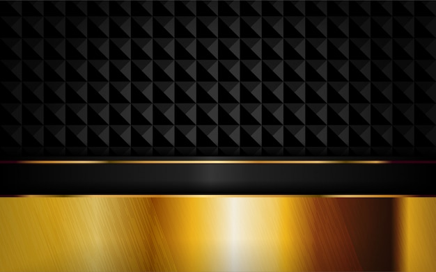 ゴールデンラインの組み合わせで抽象的な豪華な暗い背景。