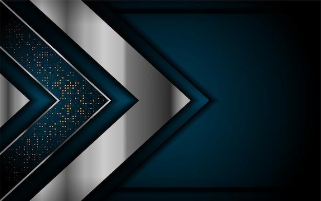 Роскошный темно-синий фон с серебряными линиями