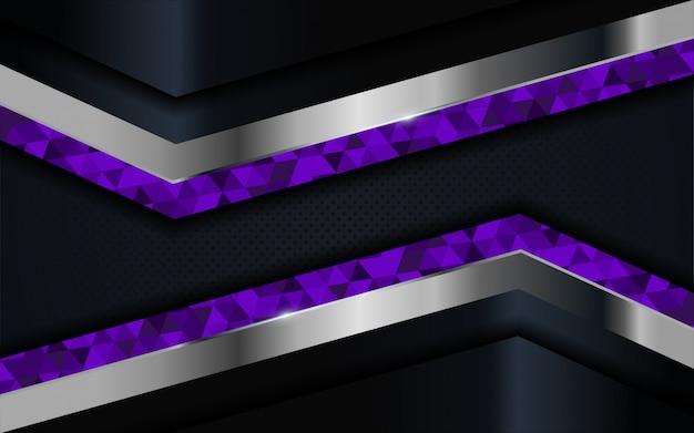 青、紫、銀の線で豪華な暗い背景