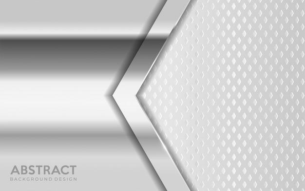 Блестящий металлический серебряный фон в сочетании с белым текстурированным слоем перекрытия.